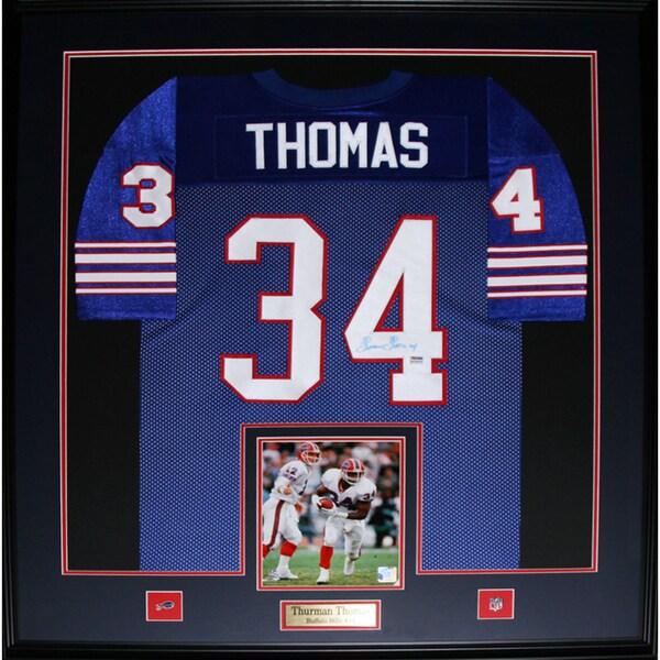 Thurman Thomas Buffalo Bills Framed Signed Jersey
