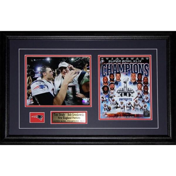 Tom Brady and Rob Gronkowski New England Patriots Superbowl XLIX 2-photo Frame