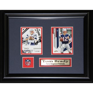 New England Patriots Tom Brady 2-card Framed Wall Plaque