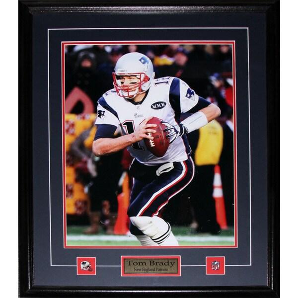 New England Patriots Tom Brady 16-inch x 20-inch Framed Wall Plaque