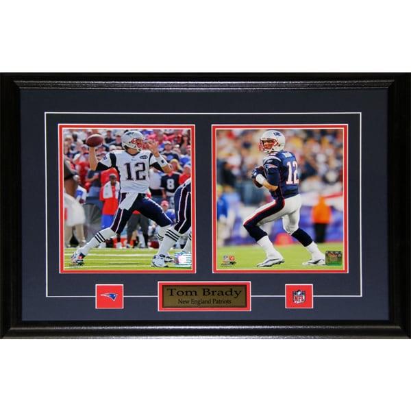 New England Patriots Tom Brady 2-photo Framed Wall Plaque