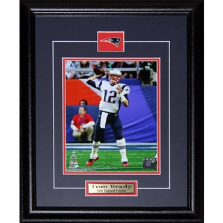 New England Patriots Tom Brady Superbowl XLIX 8-inch x 10-inch Framed Wall Plaque