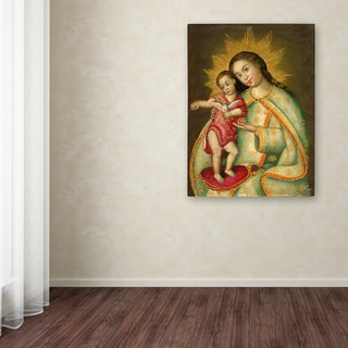 Sergio Cruze 'The Virgin and Son II' Canvas Art
