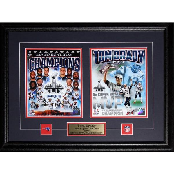 Tom Brady New England Patriots Superbowl XLIX MVP 2-photo Frame