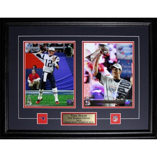 New England Patriots Tom Brady Superbowl XLIX MVP 2-photo Framed Wall Plaque