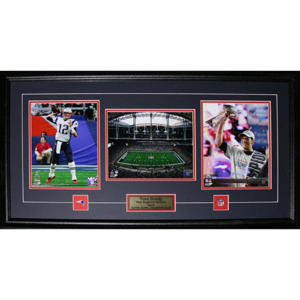 Tom Brady New England Patriots Superbowl XLIX MVP 3-photo Frame