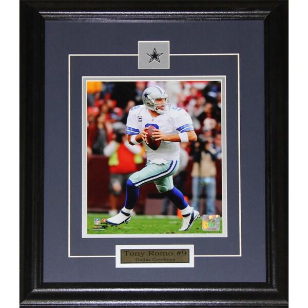 Dallas Cowboys Tony Romo 8-inch x 10-inch Framed Wall Plaque