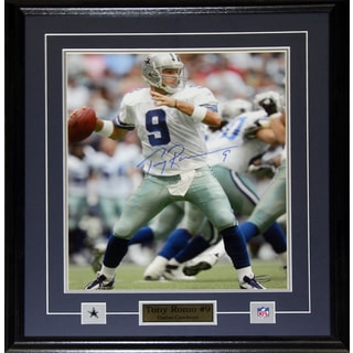 Tony Romo Dallas Cowboys Signed 16-inch x 20-inch Frame