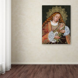 Sergio Cruze 'The Virgin and Son IV' Canvas Art