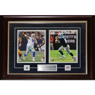 Tony Romo Dallas Cowboys Signed 2-photo Frame
