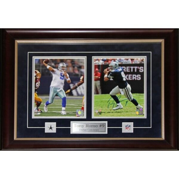 Tony Romo Dallas Cowboys Signed 2-photo Frame