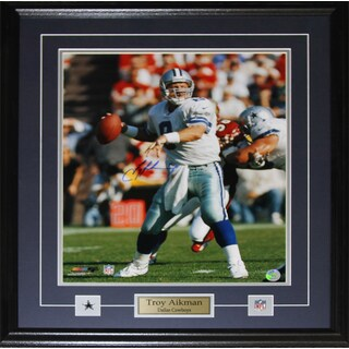 Troy Aikman Dallas Cowboys 16-inch x 20-inch Signed Frame