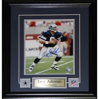 Troy Aikman Dallas Cowboys 8-inch x 10-inch Signed Frame