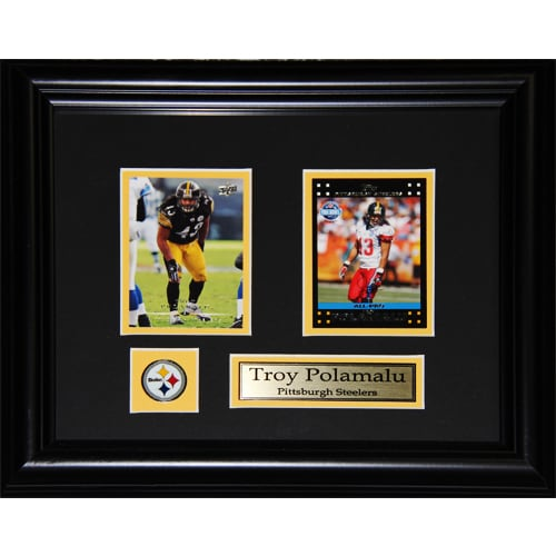 Pittsburgh Steelers Troy Polamalu 2-card Framed Wall Plaque