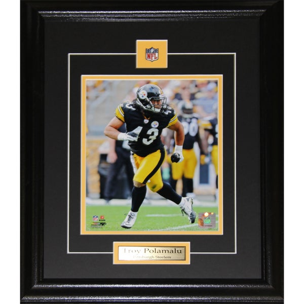 Shop Pittsburgh Steelers Troy Polamalu 8-inch x 10-inch Framed Wall Plaque  - Free Shipping Today - Overstock.com - 12014529 ce33fb881