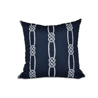 16 x 16-inch Tom Foolery Stripe Print Outdoor Pillow