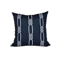 16 x 16-inch Tom Foolery Stripe Print Outdoor Pillow
