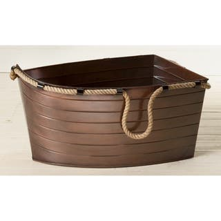 Antique Copper Boat Tub with Hemp Handles|https://ak1.ostkcdn.com/images/products/12014538/P18890360.jpg?impolicy=medium