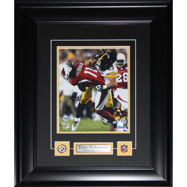 Troy Polamalu Pittsburgh Steelers Signed 8-inch x 10-inch Frame