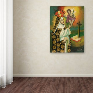 Sergio Cruze 'Mom and Child' Canvas Art