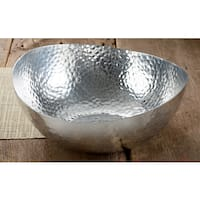 14-inch Hammered Oblong Aluminum Bowl