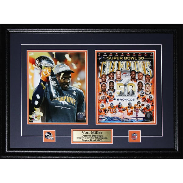 Von Miller Denver Broncos Super Bowl 50 MVP 2-photo Frame