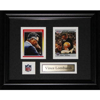 Green Bay Packers Vince Lombardi 12.5-inch x 10.5-inch Two-Card Frame
