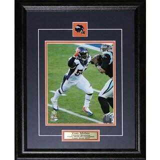 Denver Broncos Von Miller Superbowl 50 8-inch x 10-inch Framed Wall Plaque