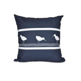 16 x 16-inch Birdwalk Animal Print Outdoor Pillow