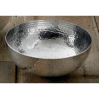 11-inch Round Hammered Aluminum Salad Bowl