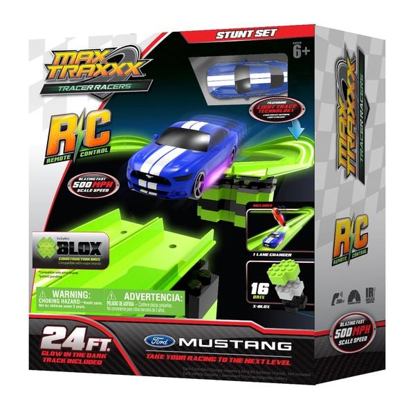 Max Traxxx Tracer Racer RC Stunt Set