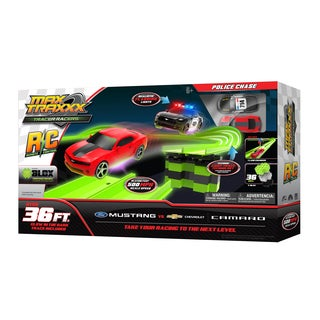 Max Traxxx Tracer Racer RC Police Chase Car Set