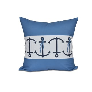 16 x 16-inch Anchor Stripe Stripe Print Outdoor Pillow
