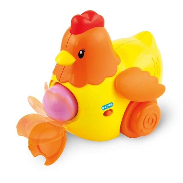 Winfun Pull 'N Lay Gold Plastic Chicken Toy