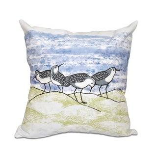 16 x 16-inch Sandpipers Animal Print Outdoor Pillow