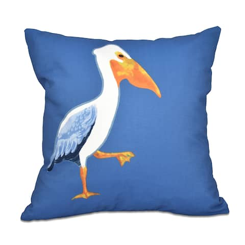 16 x 16-inch Pelican March Animal Print Outdoor Pillow