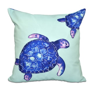 16 x 16-inch Turtle Tales Animal Print Outdoor Pillow
