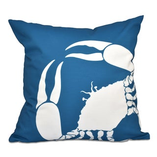 16 x 16-inch Crab Dip Animal Print Outdoor Pillow