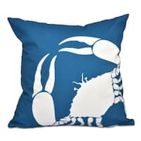 16 x 16-inch Crab Dip Animal Print Outdoor Pillow