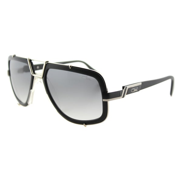 Cazal Cazal Legends Matte Black Plastic Grey Gradient Lens Aviator Sunglasses