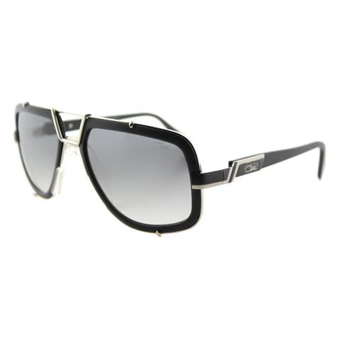 c6d41592b5c6 Cazal Cazal Legends Matte Black Plastic Grey Gradient Lens Aviator  Sunglasses