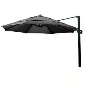 California Umbrella 11' Rd. Aluminum Cantilever, Crank Lift, Slide Tilt, Double Wind Vent, Bronze Finish, Sunbrella Fabric