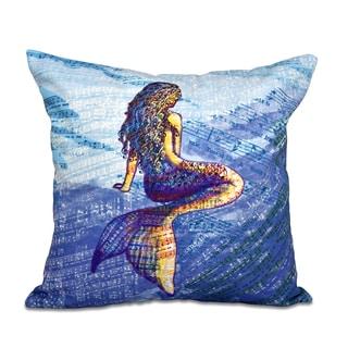 16 x 16-inch Mermaid Geometric Print Outdoor Pillow