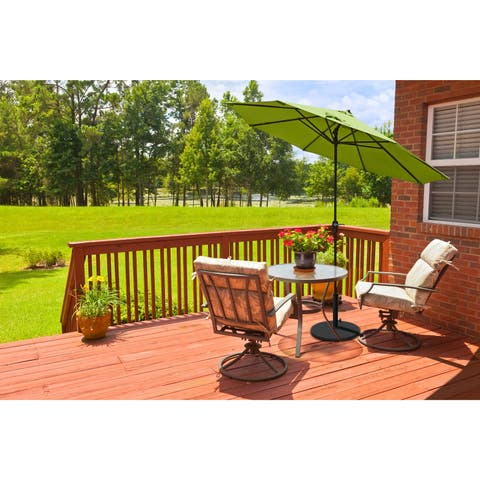 Havenside Home North Bend 9-foot Crank Open Auto-tilt Bronze Umbrella