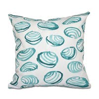 16 x 16-inch Clams Geometric Print Outdoor Pillow