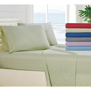 Checker Collection 1800 Series Deep Pocket 4-Piece Sheet Set (More options available)