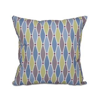 16 x 16-inch Wavy Splash Geometric Print Outdoor Pillow