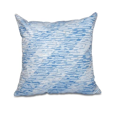 16 x 16-inch Marled Knit Stripe Geometric Print Outdoor Pillow