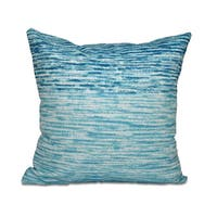 16 x 16-inch Ocean View Geometric Print Outdoor Pillow