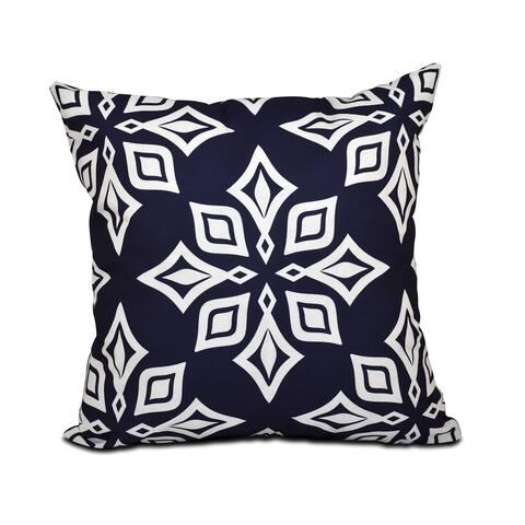16 x 16-inch Beach Star Geometric Print Outdoor Pillow